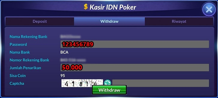 withdraw idn poker