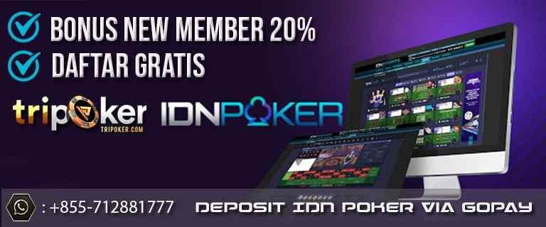 deposit idn poker via gopay